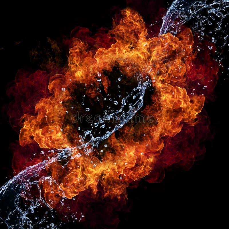 Feuer und Wasser lizenzfreie stockbilder