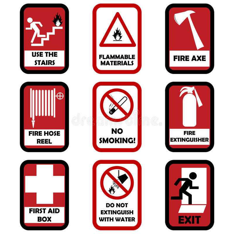 Feuerachtungzeichen stock abbildung