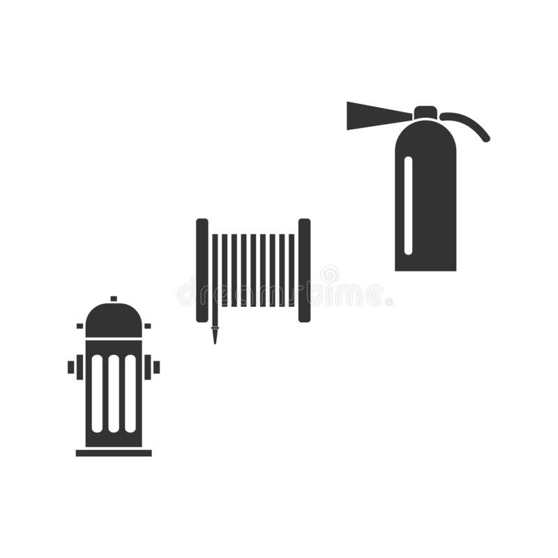 Feuerausrüstungsikone flach vektor abbildung