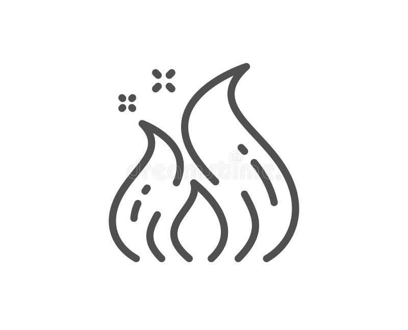 Feuerenergielinie Ikone Flammenzeichen ?kologieenergie Vektor stock abbildung