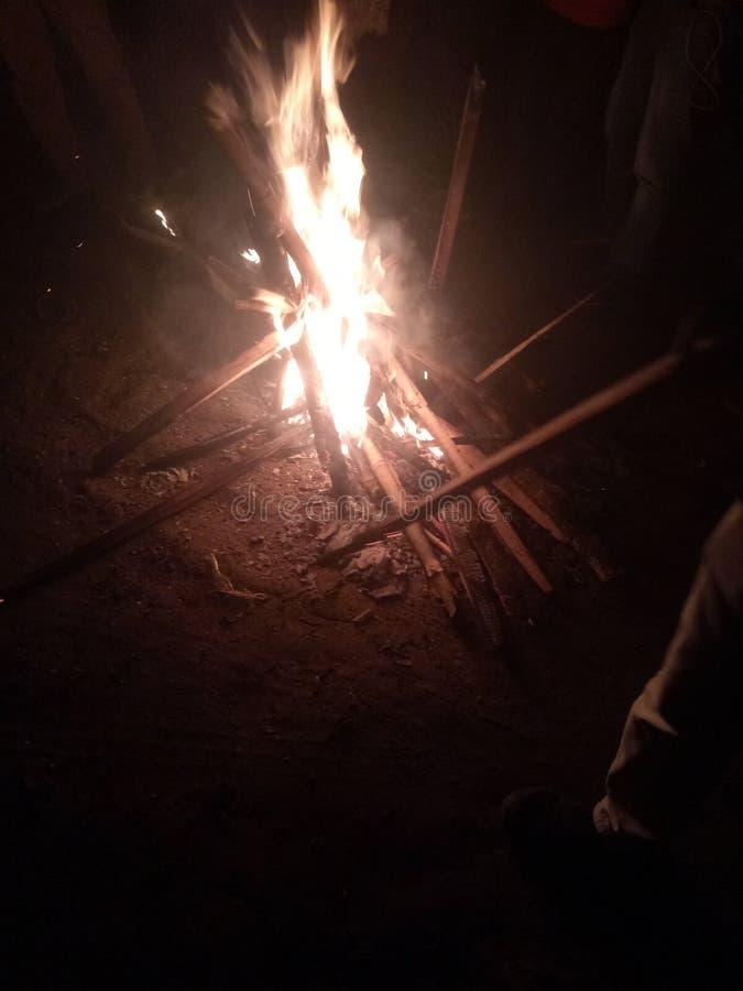 Feuerexkursion genießen Zeit stockfoto