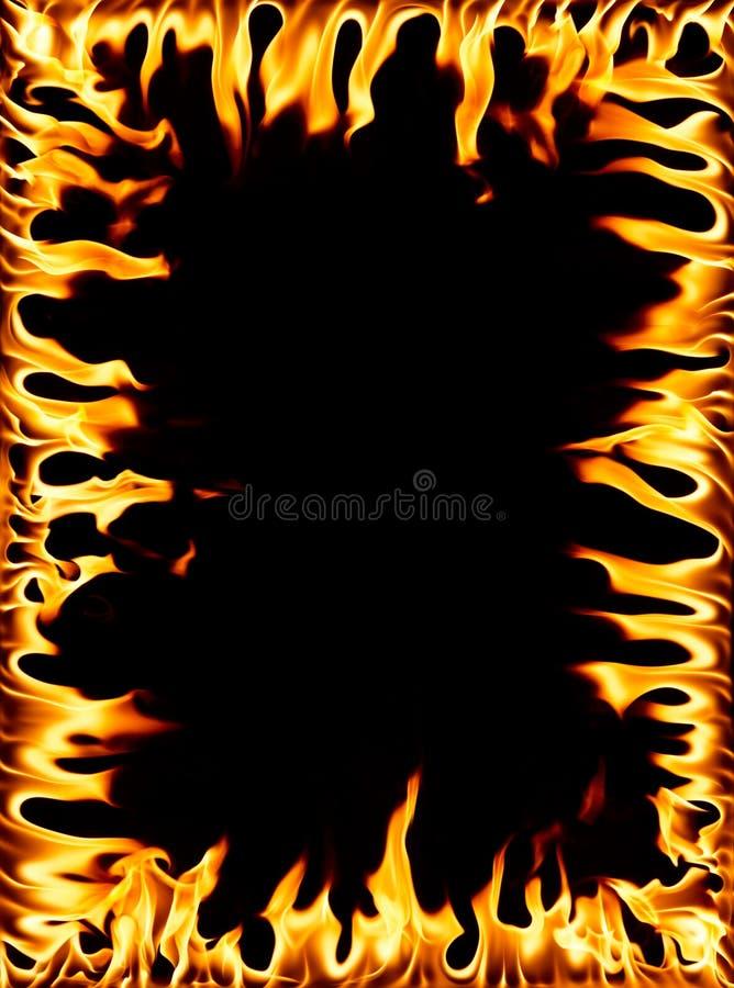 Feuerfeld stockfoto