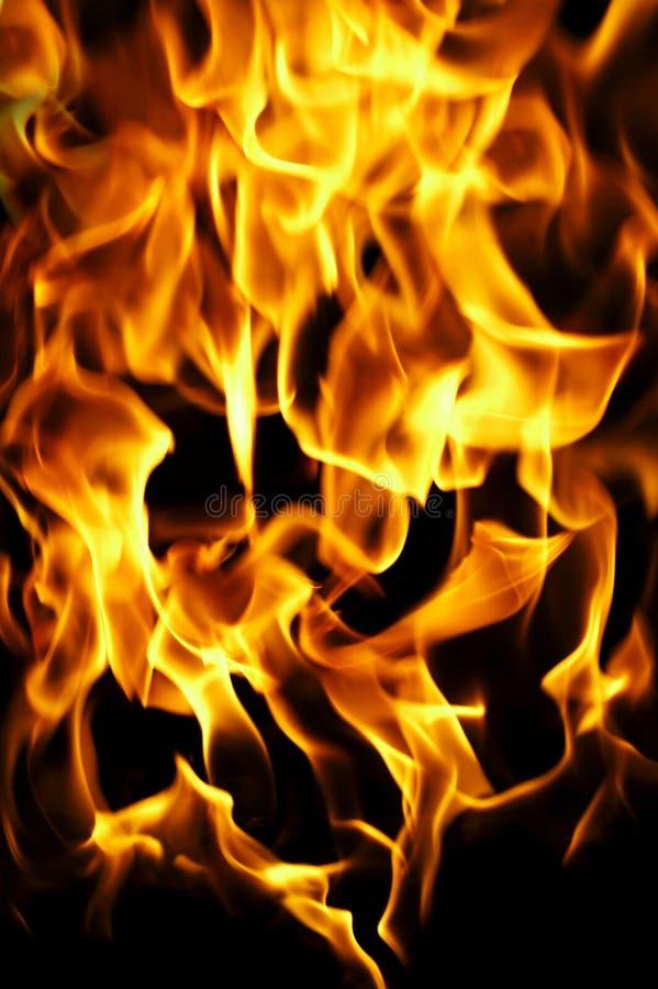 Feuerfoto auf einem schwarzen Hintergrund lizenzfreie stockfotografie