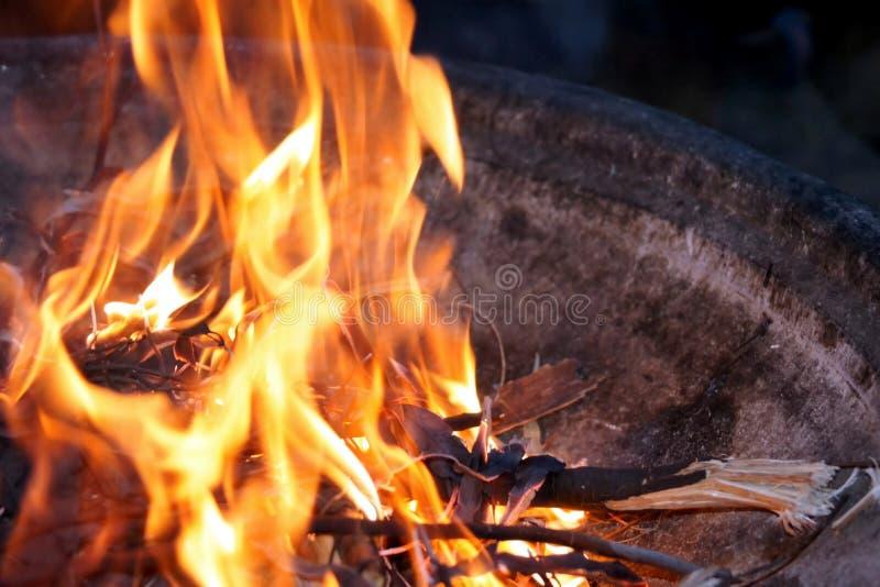 Feuergrube stockfotos