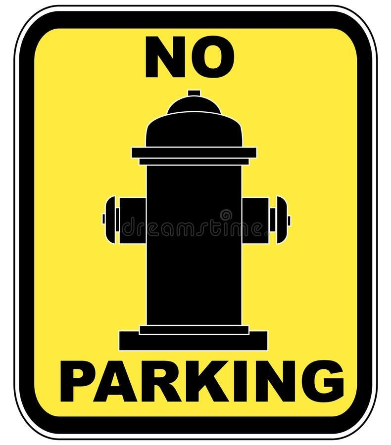 Feuerhydrant - kein Parken lizenzfreie abbildung