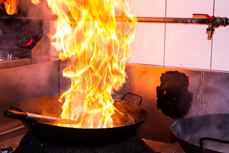 Feuerkochen stockfotos