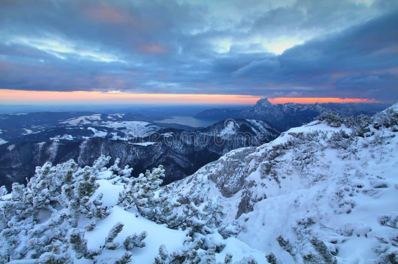 Feuerkogel в взгляде Альпов стоковые изображения rf