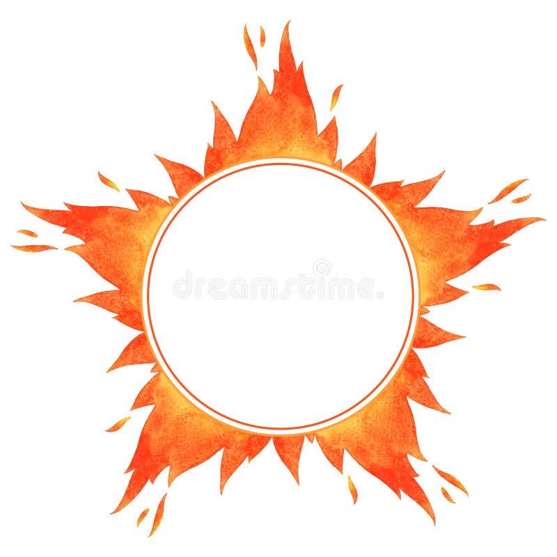 Feuerkreisrahmen lizenzfreie abbildung