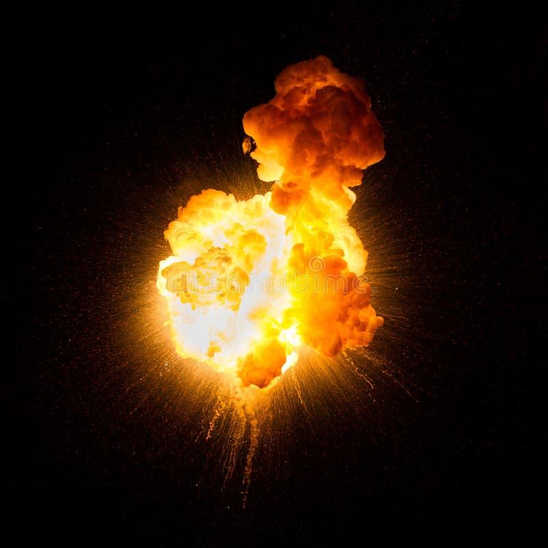 Feuerkugel: Explosion, Detonation stockfotografie