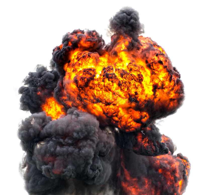 Feuerkugelatompilzinferno stockbild