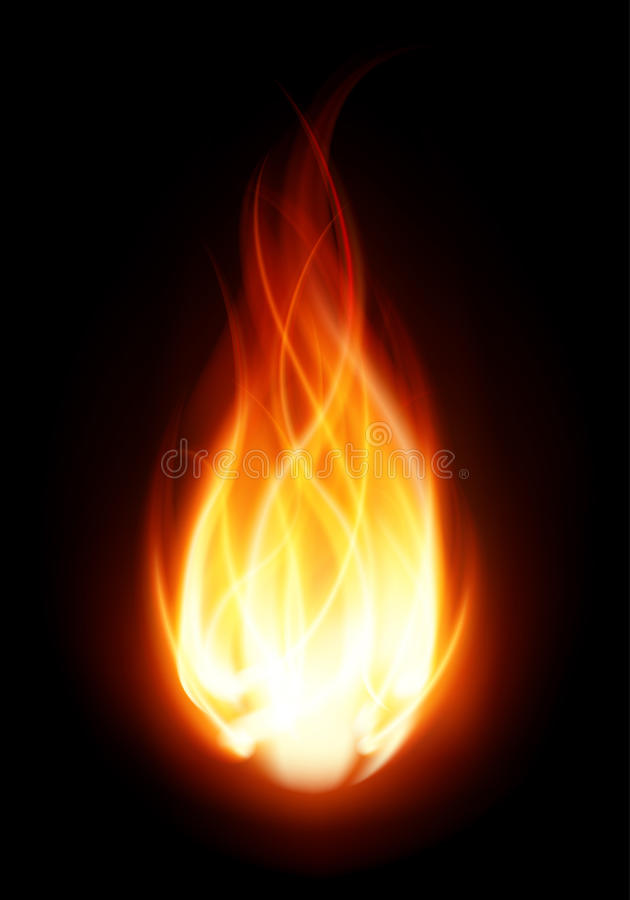 Feuerkugelflammebrand stockfoto