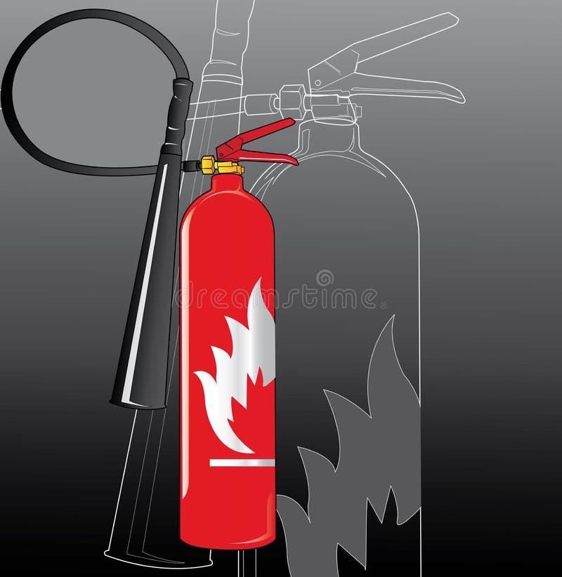 Feuerlöscher lizenzfreie abbildung
