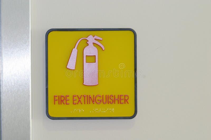 Download Feuerlöscher-Zeichen stockbild. Bild von extinguish, feuer - 39005