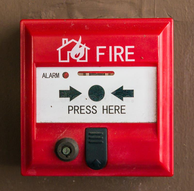 Feuermelderschalter stockfoto