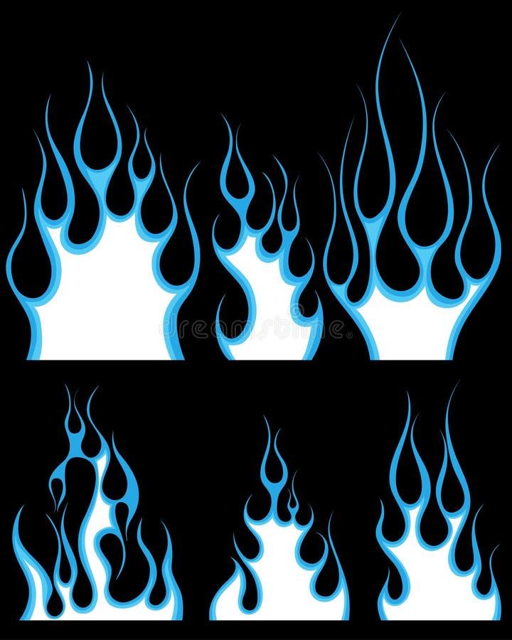Feuermuster eingestellt vektor abbildung