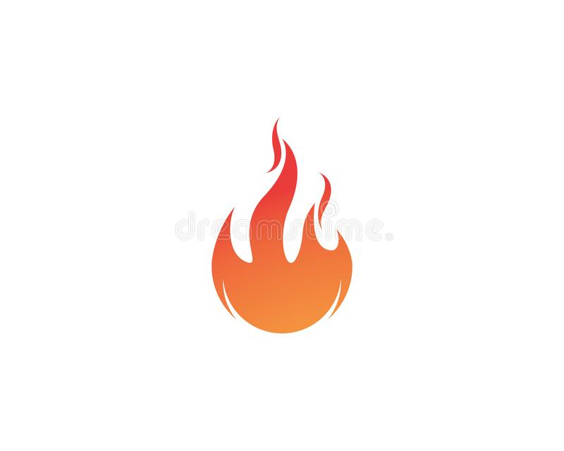 Feuern Sie Flamme Logo Template-Vektorikone Öl, Gas und Energielogo ab vektor abbildung