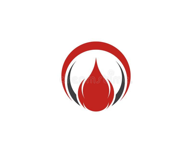Feuern Sie Flamme Logo Template-Vektorikone Öl, Gas und Energielogo ab lizenzfreie abbildung