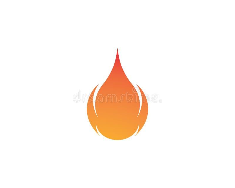 Feuern Sie Flamme Logo Template-Vektorikone Öl, Gas und Energielogo ab stock abbildung