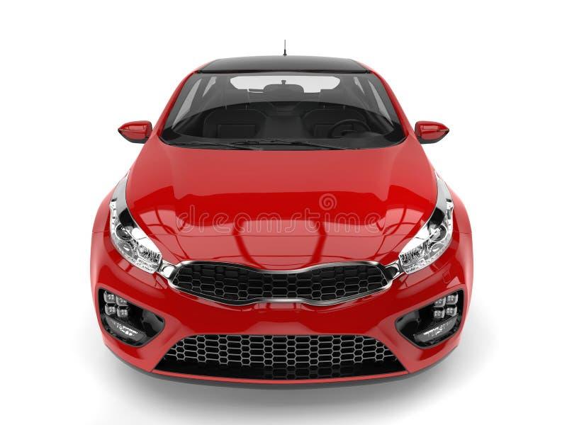 Feuern Sie roten modernen elektrischen Motor- Schuss des hohen Winkels der Vorderansicht ab vektor abbildung