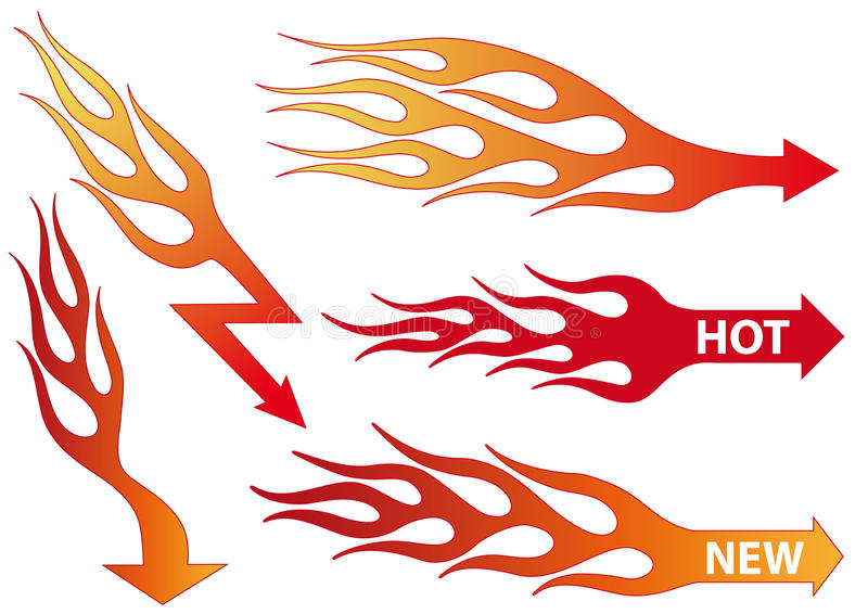 Feuerpfeile, Vektor stock abbildung