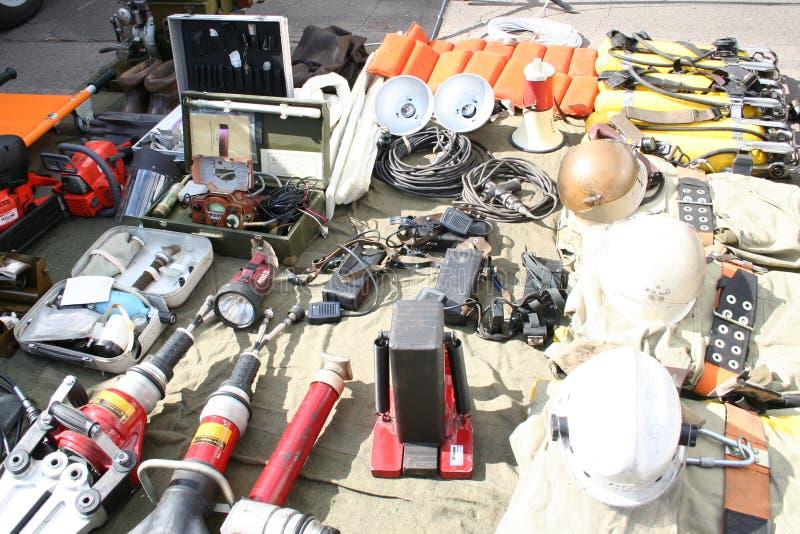 Feuerrettungsausrüstung lizenzfreies stockbild