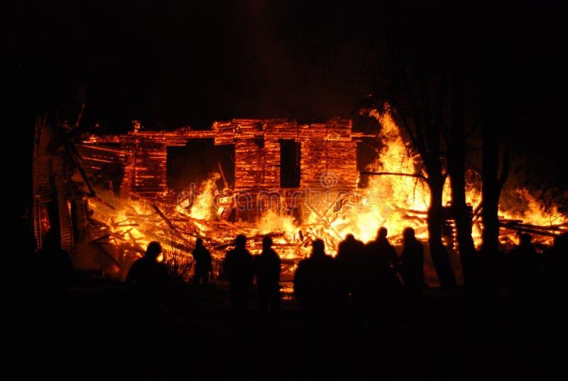 Feuersbrunst/Brennen/Feuerwehrmänner/Feuer, Leute auf Feuer lizenzfreies stockbild