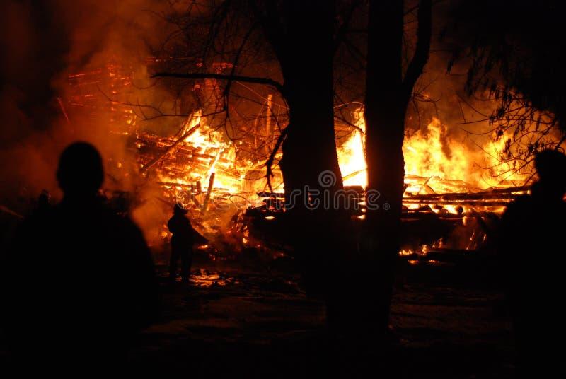 Feuersbrunst/brennende Feuerwehrmänner /fire, Leute auf Feuer lizenzfreies stockbild
