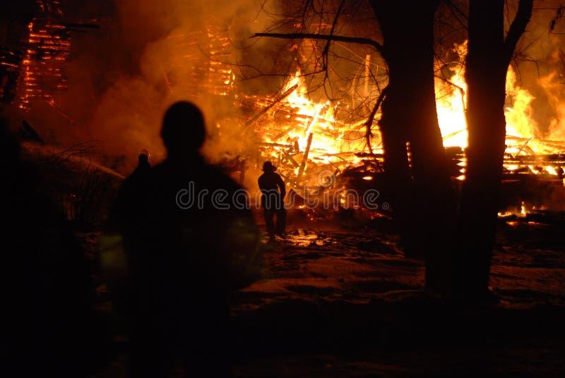 Feuersbrunst/brennende Feuerwehrmänner /fire, Leute auf Feuer lizenzfreies stockfoto