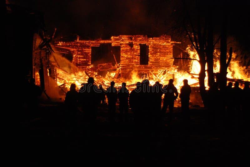 Feuersbrunst/brennende Feuerwehrmänner /fire, Leute auf Feuer stockbilder