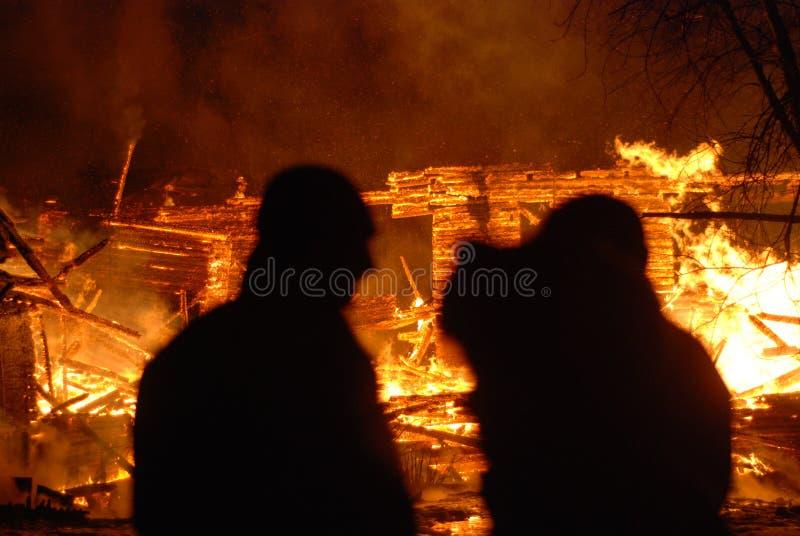 Feuersbrunst/brennende Feuerwehrmänner /fire, Leute auf Feuer lizenzfreie stockfotos