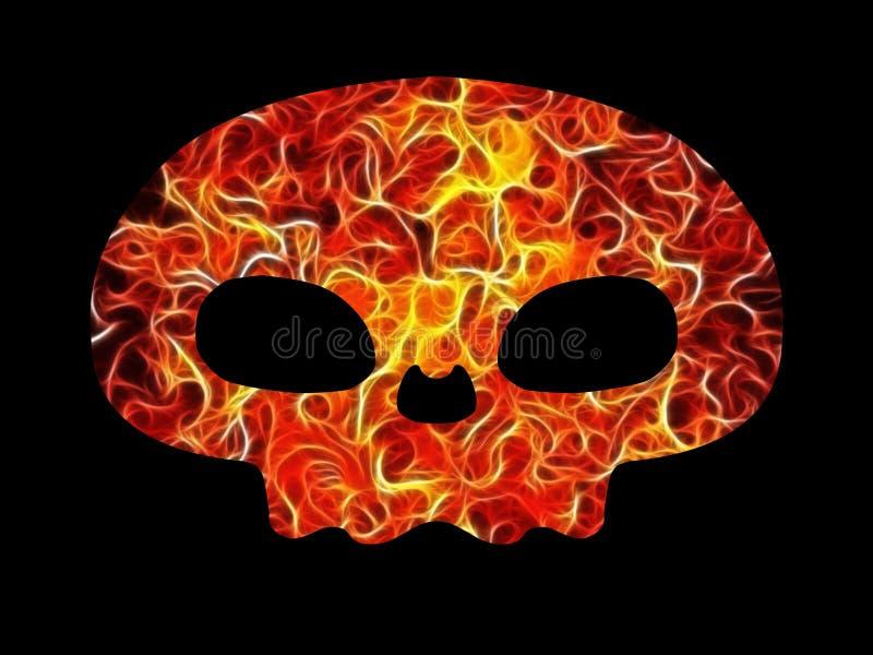 Feuerschädel stock abbildung