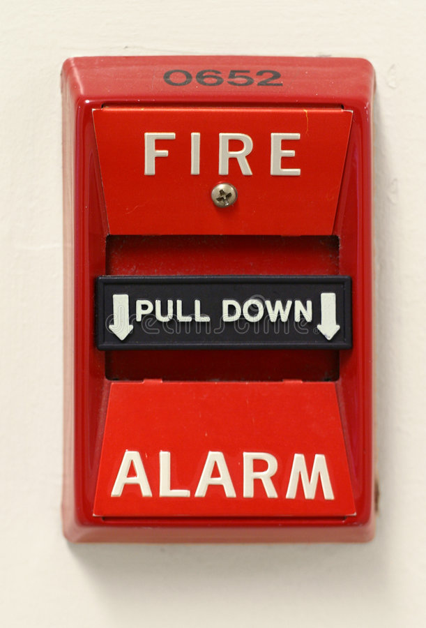 Feuersignal-Schalter stockfoto