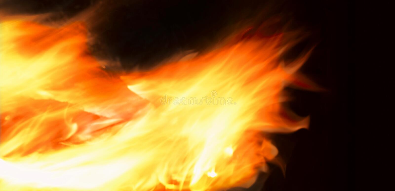 Feuersturm stockfoto