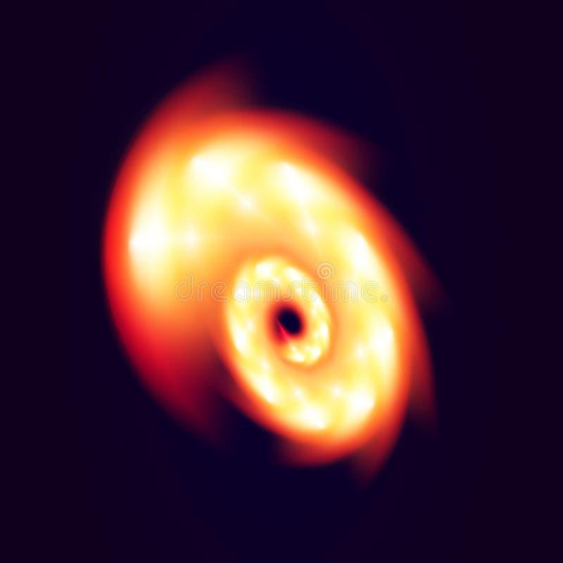 Feuerturbulenz auf dunklem Hintergrund Ring des Feuers Auch im corel abgehobenen Betrag stock abbildung