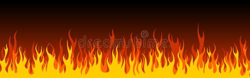 Feuerweb-Vorsatz/-fahne lizenzfreie abbildung