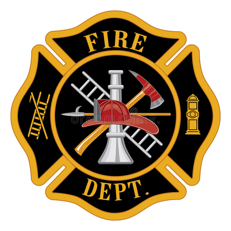 Feuerwehr-Malteser Kreuz stock abbildung