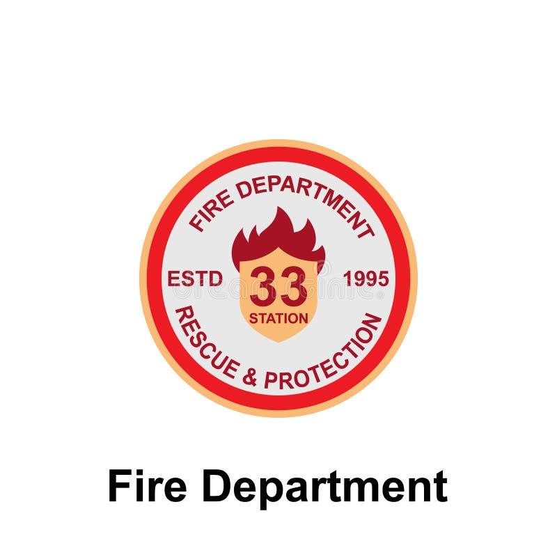 Feuerwehr-, Rettungs- u. Schutzikone Element der Farbfeuerwehr-Zeichenikone Erstklassige Qualitätsgrafikdesignikone zeichen vektor abbildung
