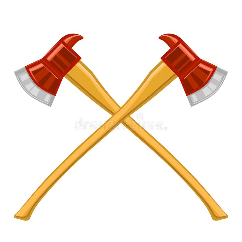 Feuerwehrmann Cross Axes Icon stockbild