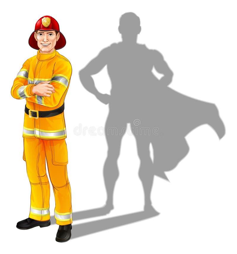 Feuerwehrmann-Held stock abbildung
