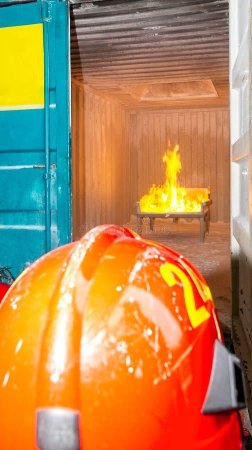 Feuerwehrmann - Training stockfoto