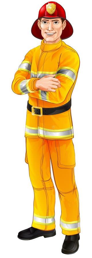 Feuerwehrmanncharakter lizenzfreie abbildung