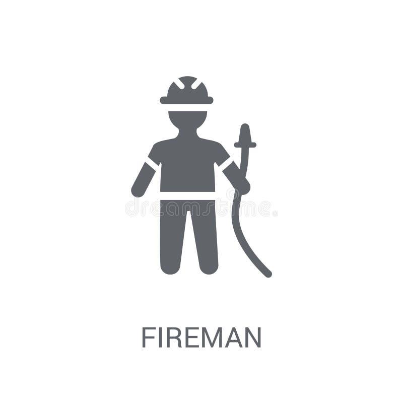 Feuerwehrmannikone  stock abbildung