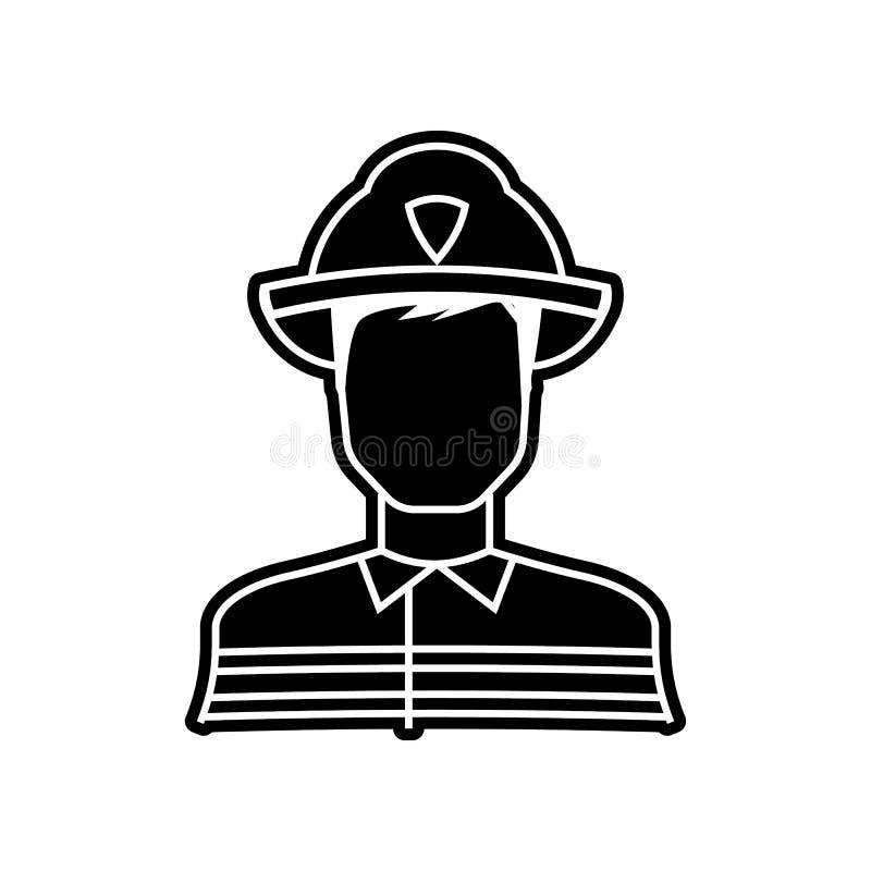 Feuerwehrmannikone Element von Proffecions f?r bewegliches Konzept und Netz Appsikone Glyph, flache Ikone f?r Websiteentwurf und  vektor abbildung