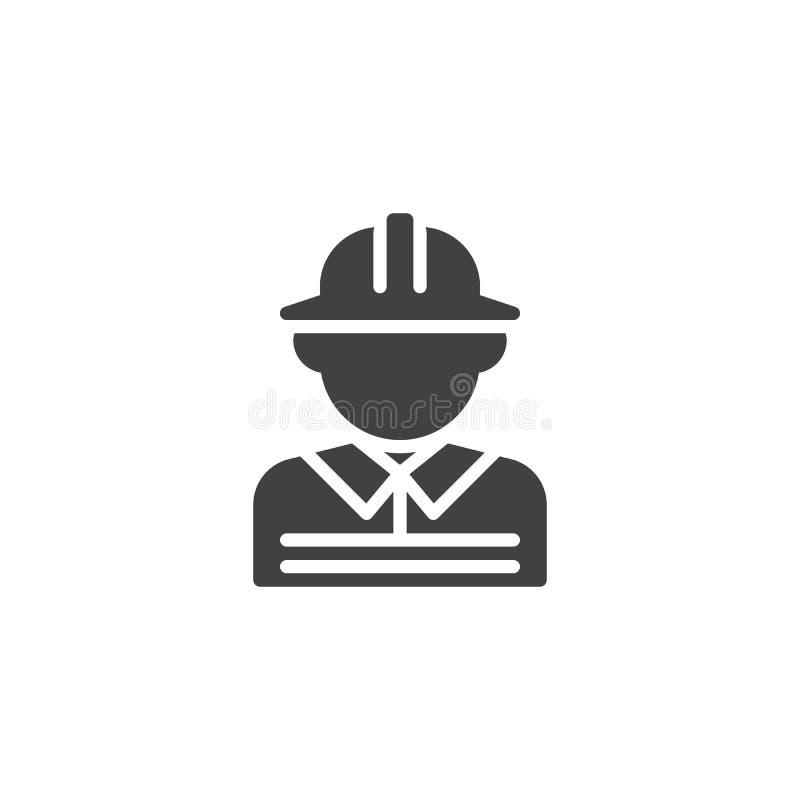 Feuerwehrmannmann-Vektorikone stock abbildung