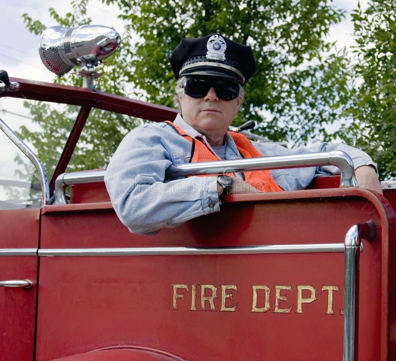 Feuerwehrmannoffizier lizenzfreie stockfotos