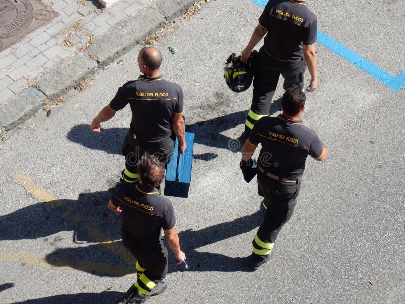 Feuerwehrteam stockfotografie