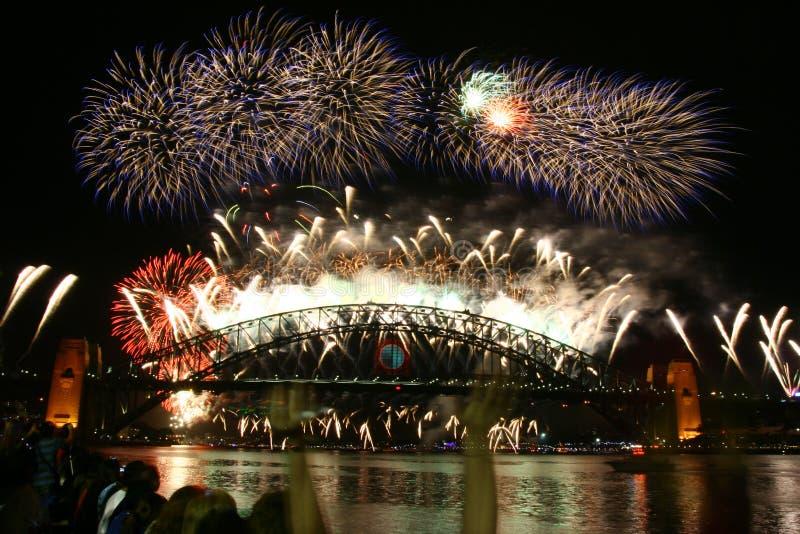 Feuerwerk 2009 des Sydney-neuen Jahres lizenzfreies stockbild