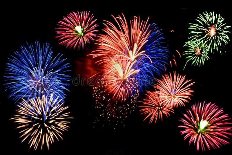 Feuerwerk-Bildschirmanzeige lizenzfreie stockfotografie