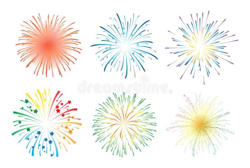 Feuerwerk-Bildschirmanzeige stock abbildung
