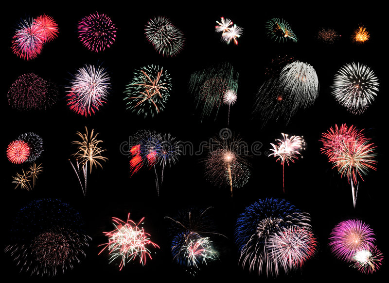 Feuerwerk-Extravaganz-Schwarzes lizenzfreie abbildung